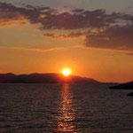 Sonnenuntergang über Korcula
