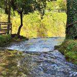 Rastoke - Wasserlauf mit Blik zur Abbruchkante