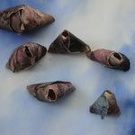 Picknickberge t(beskuren), akvarell+collage, 57x78cm