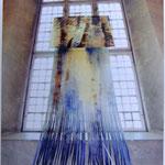 Vattenfall, akvarellrelief, 400x115cm