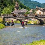 Promendae à cheval sous le pont d'Orgeix