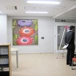 「花歌」 170×164cm 染色 ローケツ染め  日本新工芸 2006年 会員佳作賞 堀内晴美