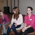 Einige Mitglieder des SV-Teams: Mascha, Anna und die neugewählte KSR-Delegierte Annika