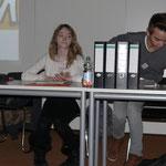Gut organisiert und perfekt vorbereitet: Julia Roos und Korbinan Rudloff