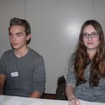 Die beiden stellvertretenden Schulsprecher: Korbinian und Malenka