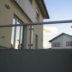 Geländer aus Edelstahl mit Glasfüllung