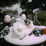 Draussen im Schnee