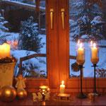 Schnee zu Weihnachten schöne Kulisse