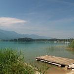 Herrlicher Blick auf den Faaker See. Wohl eines der schönsten Badeseen in ganz Kärnten.