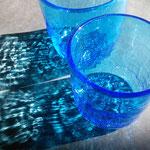 海のロックグラスセット ひび模様