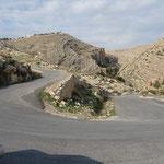 Route en zig zag de nahal Prat