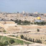Panorama sur Jérusalem- Mont des Oliviers