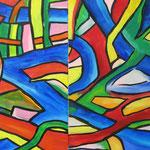 """dalla serie de """" I colori intrecciati"""" - particolare - periodo modenese"""