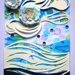 イワシの夢(Artist Trading Cardサイズ 2.5×3.5インチ(約64×89mm))