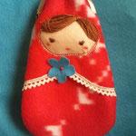 マトリョーシカがまぐち(ポーチ) Matryoshka doll pouch