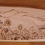 ウッドバーニング処女作 友人の依頼により制作 木曽檜