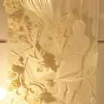 Blanc Baroque 三文サーカスをモチーフにマーメイドと言う紙のみで制作。まつもと芸術館に展示(2009年12月)