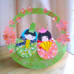 ひなまつり用クラフト Matryoshka doll paper craft for Hina matsuri(March 3rd): the Festival of Dolls. Also called Girls' Day Festival.