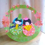 ひなまつり用クラフト Matryoshka doll paper craft for Hina matsuri(March 3rd): the Festival of Dolls. Also called Girls' Day Festival.