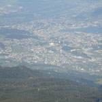 Ausblick vom Pilatus richtung Kriens/Luzern