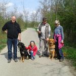 Mit Arnulf und Christel und Fontares vom Wildweibchenstein in Bobenheim-Roxheim (nach bestandener ZTP-Prüfung)
