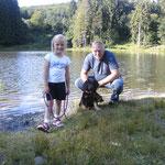Gassi gehen am Rothsee