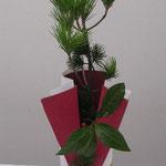 正月の花 竹の器に松をまっすぐに