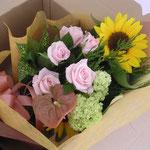 花束を宅急便で送ります