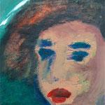 1995 Mädchen Acryl auf Papier 39x30cm
