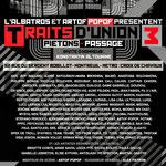 Exposition collective Traits d'Union / Piéton Passage - L'Albatros, Montreuil (2013)