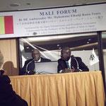 2013年3月。マリ共和国フォーラム出席。