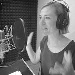 Angelina Kreyenbühl professionelle Sprecherin bei der Vertonung eines Hörspieles