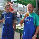 Die beiden Vorsitzenden Sven Kremer und Bernd Wolfer