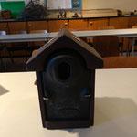 Holzbeton-Nisthilfe u.a. für Gartenrotschwanz: 18.- €