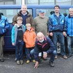 Bernd Wolfer, Matthias Wekkeli mit Söhne, Jochen Nill. Sven Kremer, Peter Zschoke und Peter Fischmann (kniend)