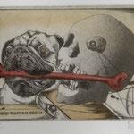 Werner, Josef. Prien. Radierung. 2010. Auflage 50. Blatt 145 x 210 mm. Platte 100 x 130 mm. Der Rote Knochen.  001