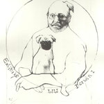 Triestram, Anya. Leipzig. Lithographie. 2009. Auflage 50. Blatt 170 x 140 mm. Darwin I . 001