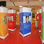Ausstellungs-Stelen – das TRIO-Banner im Einsatz