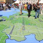 Gründungsfest der Nordkirche – begehbare Nordkirchenkarte