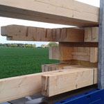 Detail: Verbindung der Holzrahmenbau-Elemente