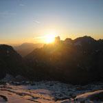 Sonnenuntergang hinter der Bischofsmütze