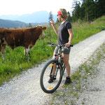 Mountainbiken mit Begegnungen
