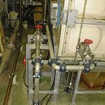 冷水槽と給水配管