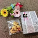 今年の記念品は、写真立て、ミニブーケ、クッキーです★