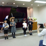 初めての試み。幼稚園児たちによる器楽合奏♪
