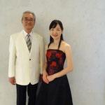 柿本先生と2ショット。私の高校時代の、担任の先生でもあります(^^)☆