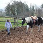Wenn dein Pferd wirklich MIT dir geht ... ein Meilenstein.