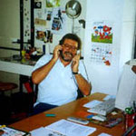 Mario Gomboli nel suo ufficio