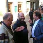 Mario insieme ai due disegnatori Enzo Facciolo e Giuseppe Palumbo