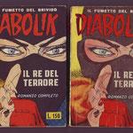 Confronto fra le copertine del 1964 edizione barzelletta versione opaca e lucida